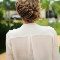 Fabulous Braided Updo Hairstyle for Women 2014