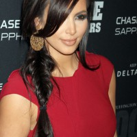 Kim Kardashian Braided Long Hairstyle