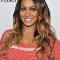 La La Anthony Long Ombre Wavy Hairstyle