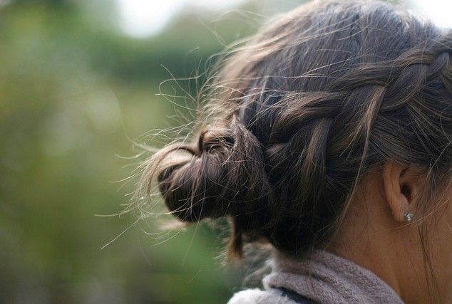 Side View of brunette bun for Summer