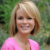 Amanda Holden Classic Short Bob Hairstyle with Bangs for Spring