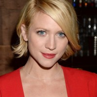 Brittany Snow Layered Short Bob Hairstyle with Bangs