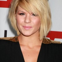Celebrity Kimberly Caldwell Short Bob Hairstyle with Bangs