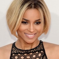 Ciara Rounded Short Bob Hairstyle for Women