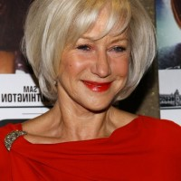 Helen Mirren Short Layered Bob Hairstyle for Women Age Over 60