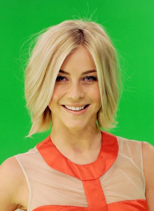 Julianne Hough Layered Razor Bob Haircut for Women