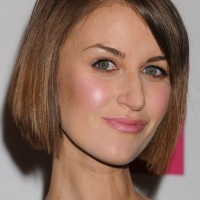 Katherine Kelly Short Bob Haircut for Round Face Shapes