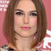 Keira Knightley Center Parted Medium A Line Bob Haircut