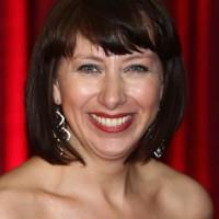 Sarah Moyle Short Angled Bob Haircut with Bangs