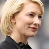 Side View of Cate Blanchett Short Straight Bob Haircut