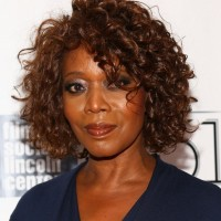 Alfre Woodard African American Curly Hairstyle for Short Hair