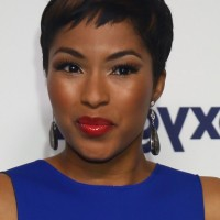 Alicia Quarles Short Pixie Cut with Highlights for Black Women