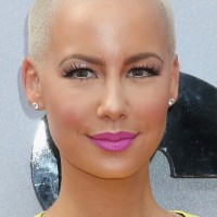 Amber Rose Short Hairstyles: Very Short Buzzcut for Women