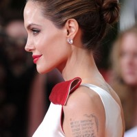 Angelina Jolie Updo: Chic Bun Updos Side View