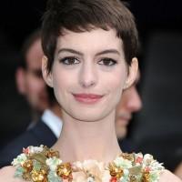 Anne Hathaway Cute Short Pixie Cut with Short Bangs