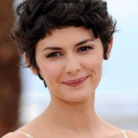 Audrey Tautou Choppy Short Messy Haircut with Curls