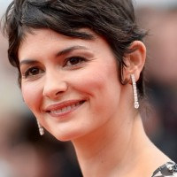 Audrey Tautou Messy Short Pixie Cut with Bangs