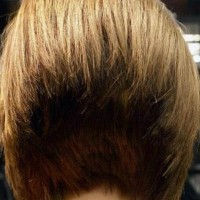 Back View of 45-Degree Short Wedge Bob Haircut
