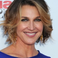 Brenda Strong Short Ombre Curly Bob Hairstyle