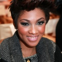 Bria Murphy Short Spiked Haircut for Winter