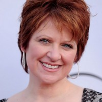 Caroline Manzo Layered Short Red Pixie Cut for Women Over 50