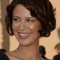 Catherine Bell Short Curly Bob Hairstyle for Women