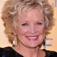 Christine Ebersole Short Tousled Curly Hairstyle for Women Over 50