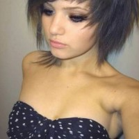 Cute Short EMO Hairstyle for Girls