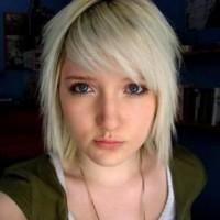 EMO Girls Short Blonde Hair