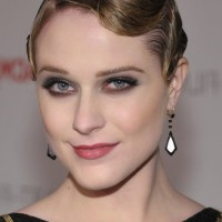 Evan Rachel Wood Very Short Finger Wave Hairstyle for Women