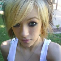Girls with Short EMO Hairstyle