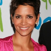 Halle Berry Layered Messy Short Pixie Cut for Women