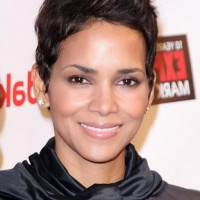 Halle Berry Short Spiked Messy Cut for Women