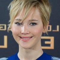 Jennifer Lawrence Cute Short Messy Haircut with Bangs