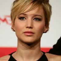 Jennifer Lawrence Layered Short Haircut with EMO Bangs