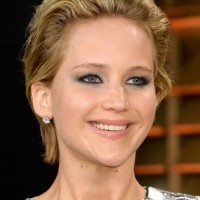 Jennifer Lawrence Short Messy Haircut for Party