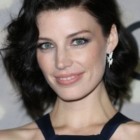 Jessica Pare Short Black Curly Hairstyle for Women