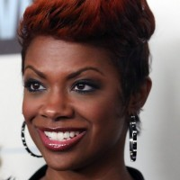Kandi Burruss Cool Spiked Red Haircut for Black Women