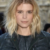 Kate Mara Tousled Short Messy Ombre Hairstyle for Winter