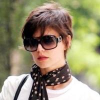 Katie Holmes's Short layered boy cut for Women