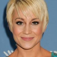 Kellie Pickler Short Blonde Pixie Cut with Bangs