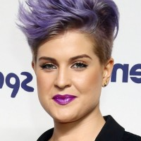 Kelly Osbourne Cool Short Spiked Purple Haircut