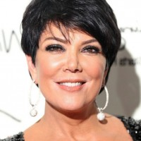 Kris Jenner Side Parted Layered Short Haircut for Women Over 50