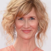 Laura Dern Short Bob Hairstyle with Wild Curls for Women Over 40