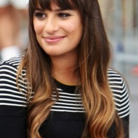 Lea Michele Long Ombre Hair