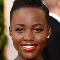 Lupita Nyong'o Side Parted Very Short Straight Haircut for Black Women
