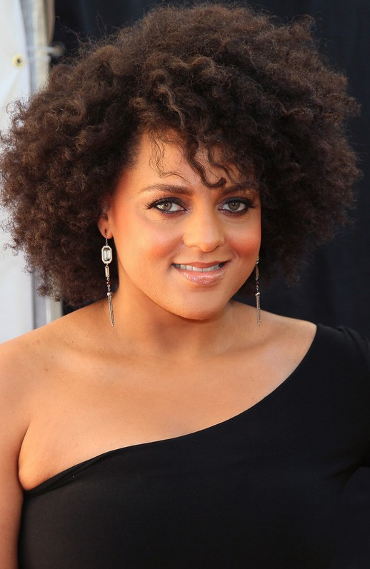 Marsha Ambrosius Short Curly Hairstyle for Black Women