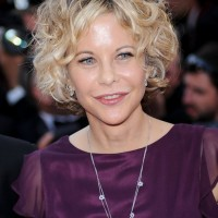 Meg Ryan Short Blonde Curly Hairstyle for Women Over 50