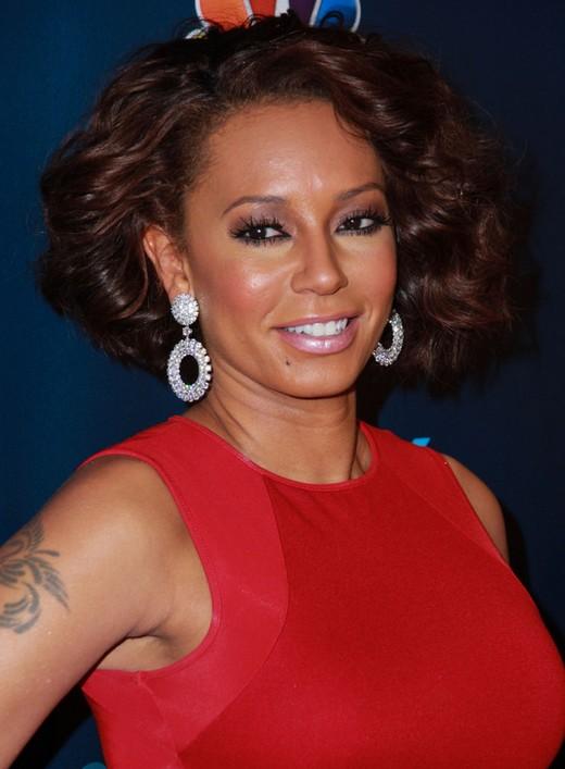 Melanie Brown Short Wavy Curly Hairstyle for Homecoming