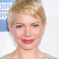 Michelle Williams Casual Blonde Pixie Cut for Short Hair